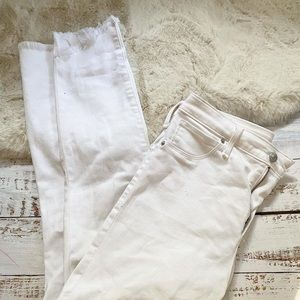 Abercrombie & Fitch high rise white jeans